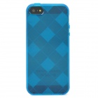 Stylish Checked Style Protective Back Case for iPhone 5 - Translucent Blue