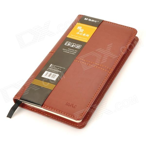 ChenGuang APY4H361 Leather Cover Notebook - Red Brown (100-Pages) mg chenguang 18pcs color pencil