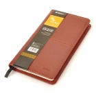 Chenguang APY4H361 Leather Cover Notebook - Red Brown (100-Seiten)