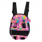 Pet Dog Canvas Backpack - Pink + Black
