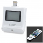 "iPEGA PG-I5006 1.0"" LCD Alcohol Tester Powered from iPhone 5 / iPad Mini / iPod touch 5 - White"