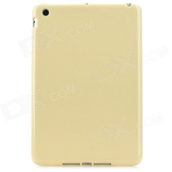 Soft TPU + Silicone Back Case for Ipad MINI - Light Yellow for ipad mini