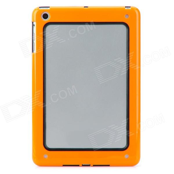 Protective Bumper Frame for Ipad MINI - Orange + Black protective aluminum alloy bumper frame case for iphone 6 4 7 grey golden