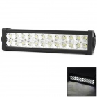 72W 4300lm 6000K 24-Epistar In-line LED White Light Car Working / Repairing Lamp Bar - Black