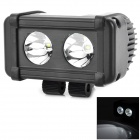Waterproof 20W 1820lm White Car Engineering Light w/ 2-CREE XM-L T6 - Black