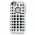 2-in-1 Detachable Protective Back Case for Iphone 5 - White + Black