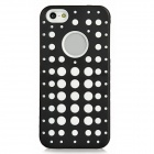 2-in-1 Detachable Protective Back Case for Iphone 5 - Black + White
