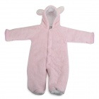 Cute Rabbit Style Polar Fleece Conjoined Garment for Baby - Pink + White