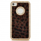 Cool Leopard Style Protective Back Case for Iphone 4 - Brown + Black + Golden