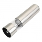 Stainless Steel Electric Pepper Sea Salt Mill Grinder Muller - Silver (4 x AA)