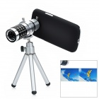 4-in-1 12X Telescope + Wide Angle + Fisheye + Micro Lens Set