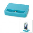 Stylish Sync and Charging Docking Station for iPhone 5 - Light Blue