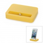 Stylish Sync and Charging Docking Station for iPhone 5 - Yellow