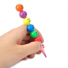 Cartoon Expression Sugar-Coated Haws Crayon - Multicolored (4 PCS)