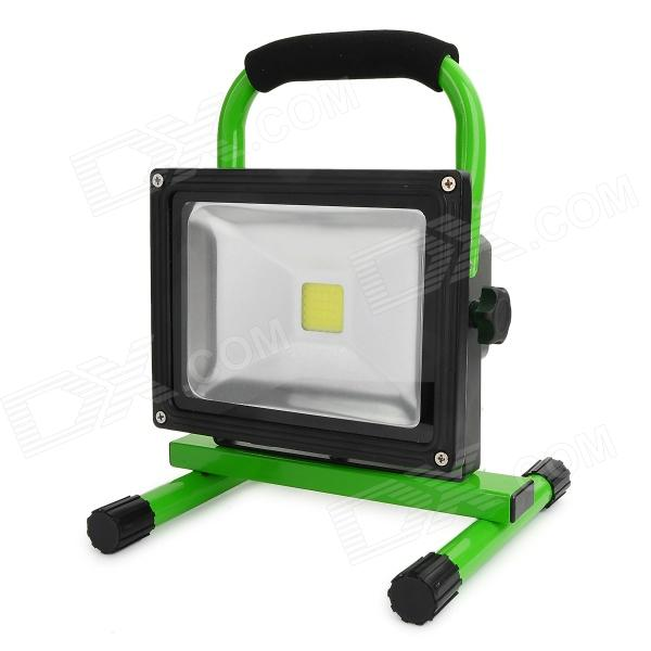 L20 Waterproof 20W 1300lm 6000K LED White Light Rechargeable Camping Engineering Lamp - Green portable outdoor camping 10w rechargeable waterproof led white light project lamp w 2 flat pin plug