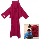 WarmTime Warm Sleeping Air Conditioner Blanket w/ Sleeves / Collar / Waistbelt - Red