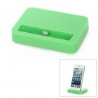 Stylish Sync and Charging Docking Station for iPhone 5 - Green