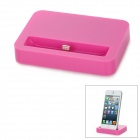 Stylish Sync and Charging Docking Station for iPhone 5 - Deep Pink