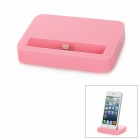 Stylish Sync and Charging Docking Station for iPhone 5 - Pink