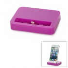 Stylish Sync and Charging Docking Station for iPhone 5 - Purple