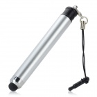 2-in-1 Capacitive Stylus Pen + Ballpoint Pen w/ Anti-Dust Plug - Silver + Black