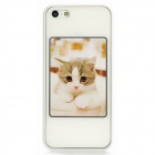 Protective Photo Frame Plastic Back Case for Iphone 5 - White (7 x 5cm)