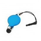 Ping Pong Table Tennis Racket Style Stylus Pen w/ 3.5mm Anti-Dust Plug for Iphone 5 / 4 / 4S - Blue