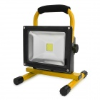 Waterproof 20W 800~900lm 6000K LED White Light Rechargeable Camping Engineering Lamp - Yellow