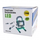 Waterproof 20W 800~900lm 6000K Cool White Rechargeable Camping Lamp