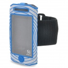 BASEUS AWAPIH4S-03 Outdoor Sport Protective Fabric Armband for iPhone 4 / 4S - Blue + Black + White