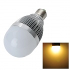 E27 12W 1000lm 24-SMD 5730 LED Warm White Light Bulb - Silver + Ivory White (89-265V)