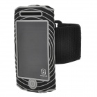 BASEUS AWAPIH4S-01 Outdoor Sport Protective Fabric Armband for iPhone 4 / 4S - Black + White