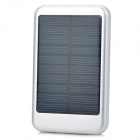 Portable 5000mAh Solar Powered Mobile Power for iPhone 5 / iPad Mini - Silver