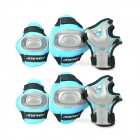 JOEREX PR21633 Outdoor Sports Hand Protector + Elbow Guard + Knee Guard Set - Blau (6 PCS)