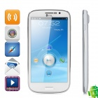 THL W8 Android 4.1 Quad-Core Bar Phone w/ 5.0' Capacitive Screen, Wi-Fi, GPS and Dual-SIM - White