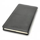 Chenguang APY4H361 Office Series 48K Artificial Leather Paper Notebook - Black (100-Page)