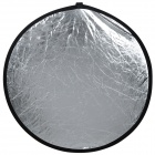 SR-2-23 Folding Round Shaped Dual Side Flash Reflector Board - Golden + Silver (82cm Diameter)