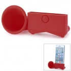 Silicone Sound Amplification Speaker Case for iPhone 5 - Red
