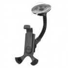 Universal 360 Degree Rotation Plastic Car Suction Cup Mount Holder for Mobile Phone - Black