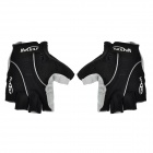 NUCKILY Outdoor Cycling Riding Half Finger Men's Gloves - Black (XL-Size / Pair)