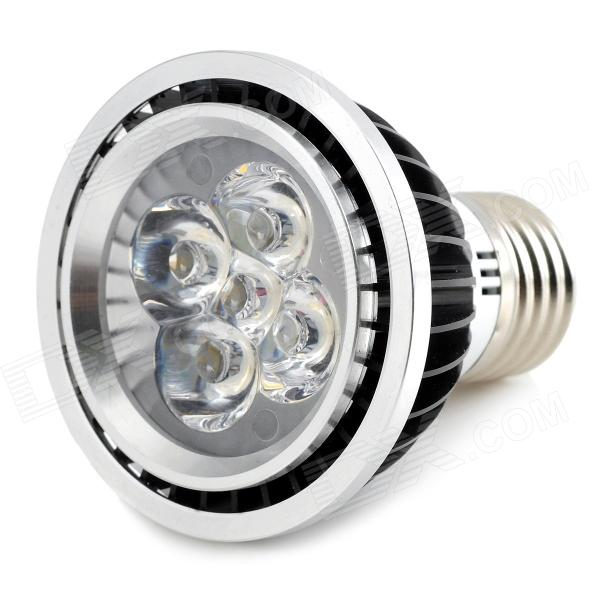 E27 5W 450lm 5-LED Warm White Light Bulb - Black + Silver (89-265V)