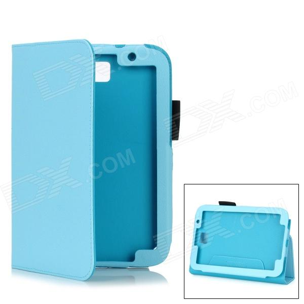 Protective PU Leather Case for Samsung Galaxy Note 8.0 N5110 - Light Blue