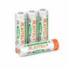 ATAITELY Rechargeable 1.2V 2400mAh Ni-MH AA Batteries - White + Orange + Green (4 PCS)