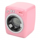 Cute Washing Machine Style Desktop Alarm Clock - Pink