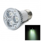 E27 3W 240lm 3-LED White Light Bulb - White + Silver (85-265V)