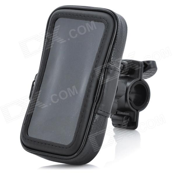 Sports Bike Water Resistant Bag w/ 360 Degree Rotating Mount Holder for Iphone 4 / 4S - Black m09 motorcycle bicycle water resistant holder stand for iphone 4 4s black
