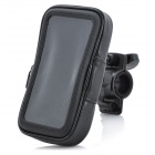 Sports Bike Water Resistant Bag w/ 360 Degree Rotating Mount Holder for Iphone 4 / 4S - Black