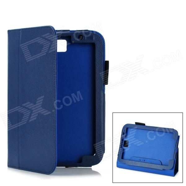 Protective PU Leather Case for Samsung Galaxy Note 8.0 N5110 - Dark Blue metal ring holder combo phone bag luxury shockproof case for samsung galaxy note 8
