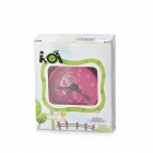 Mini Angel Wings Desk Clock - Deep Pink