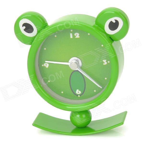 Cute Frog Shape Mini Desktop Clock - Green (1 x LR44)
